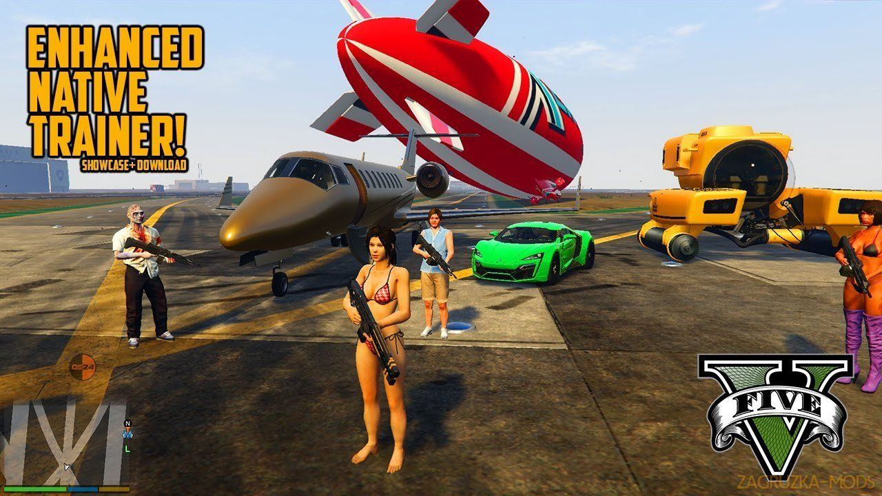 Enhanced native trainer v42 for gta 5 with images