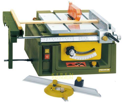 Details Proxxon 37070 Mini Table Saw Fet Wood Metals Plastics