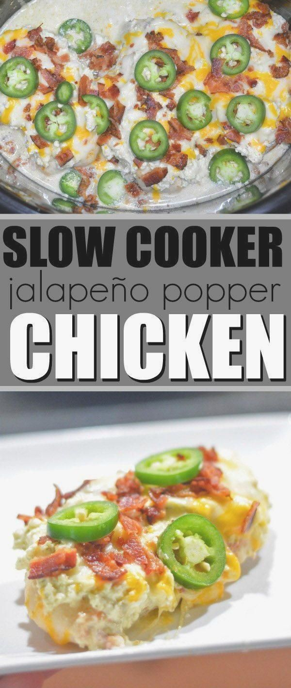 Slow Cooker Jalapeno Popper Huhn   #chicken #Cooker #Jalapeno #Popper #Slow #diät #ketogene #ketogenediät