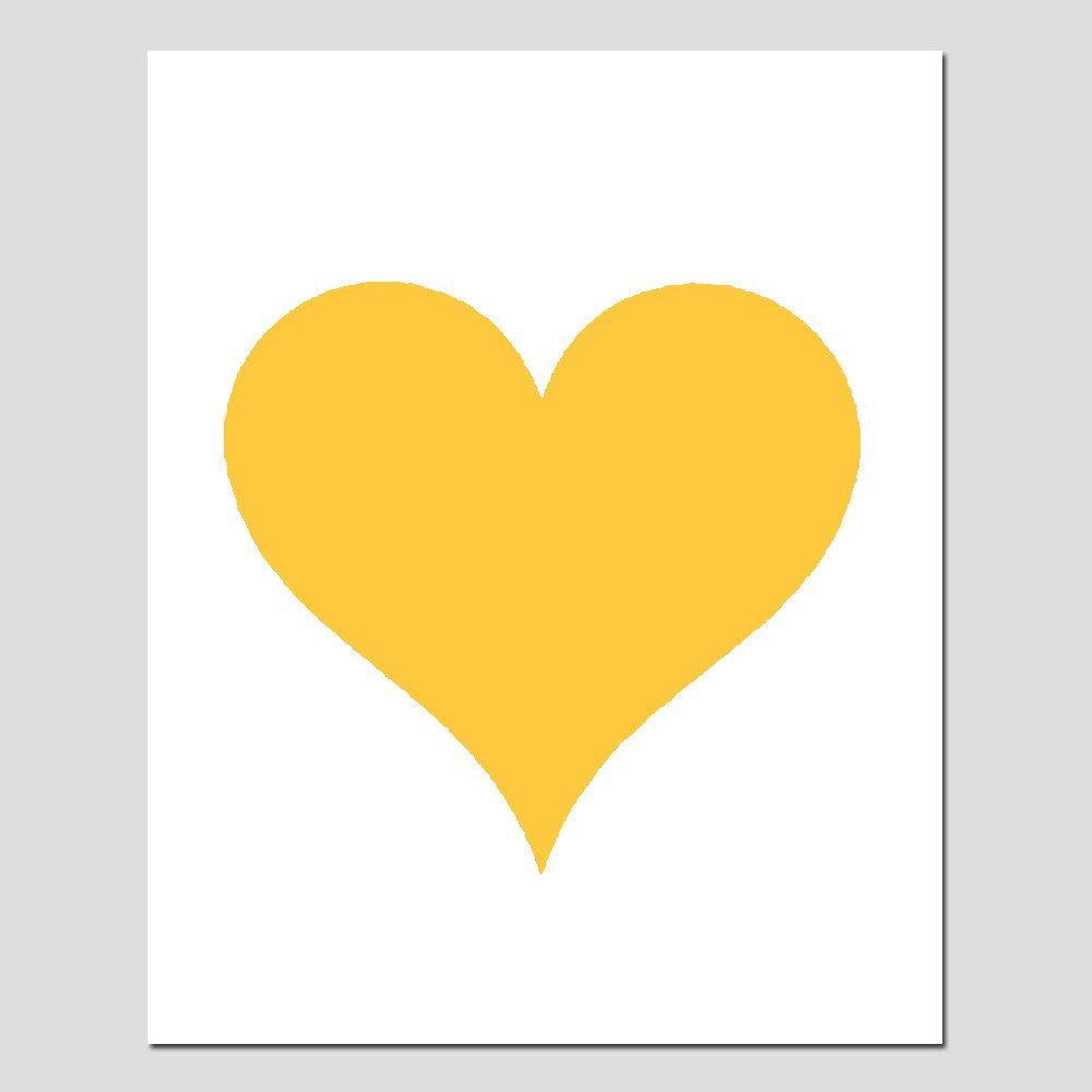 Simple Heart - 8x10 Original Print - Perfect For Modern Nursery ...