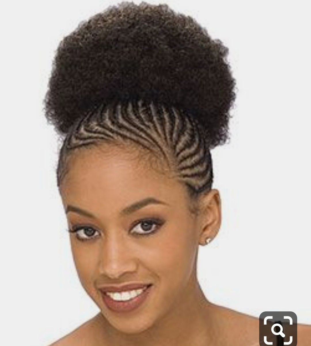 Tresses Ponpon Hair Puff Afro Puff Ponytail Cornrow Hairstyles