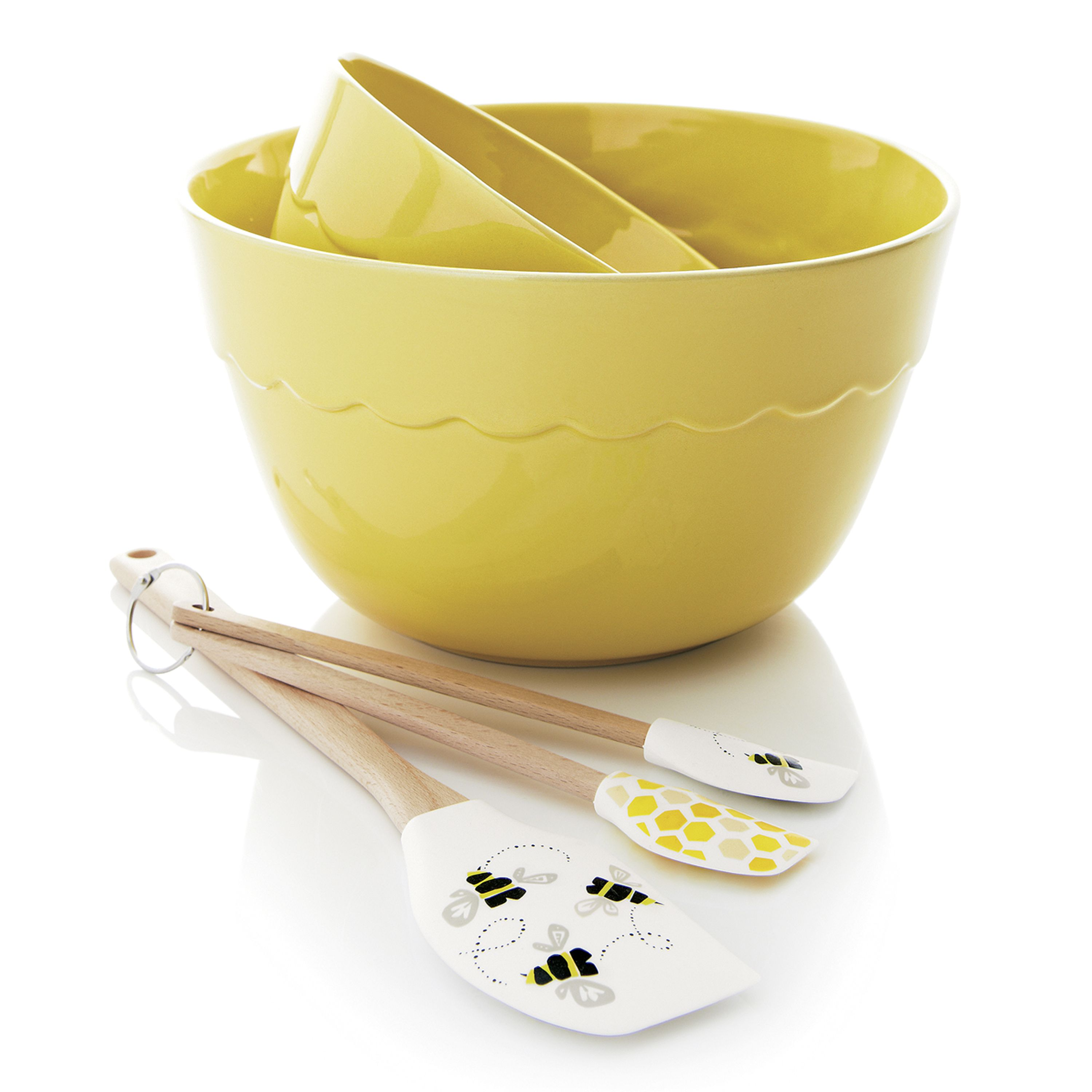 Online color mixer tool - Scalloped Details And A Sunny Yellow Color Brighten Up This Pair Of Versatile Bowls Deep
