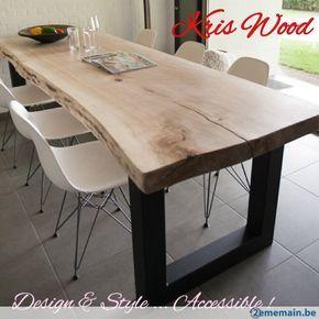 Plateau Chene Blanc Sec Cm Tres Massif Pour Table Mm - Table pied metal plateau chene pour idees de deco de cuisine