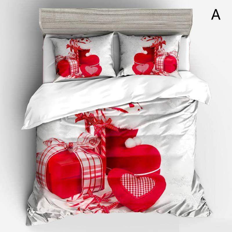 Crective Cozy Bedding Set Christmas Theme 3D Digital Printing