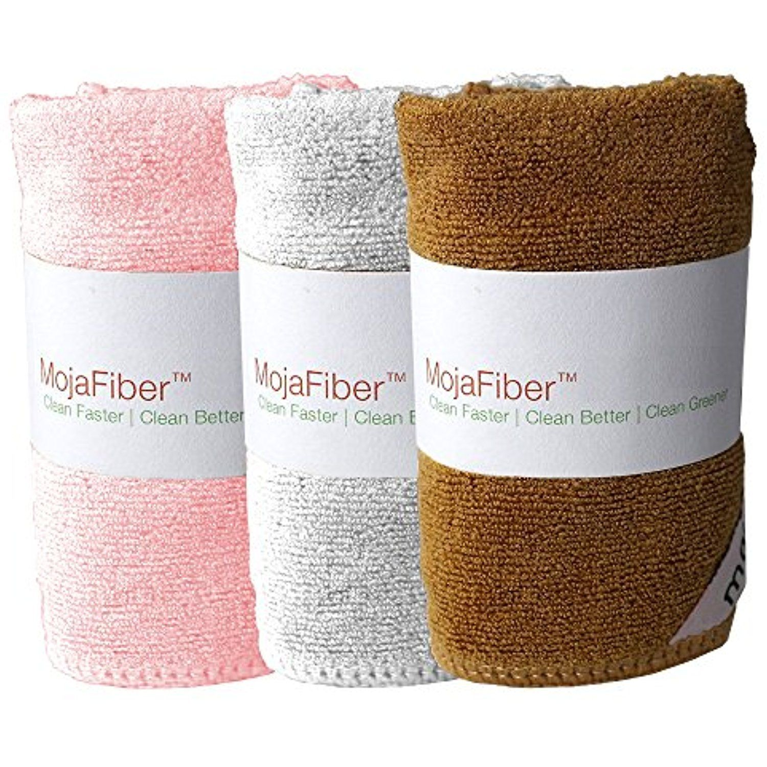 Plush MojaFiber Microfiber Face Cloth Ultra Dense 3 Pk â