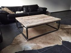 Salon Tafel Hout : Salon tafel hout balk google zoeken industrial furniture