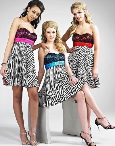 Size 4 Zebra Print Sequin Bodice Landa Short Homecoming Dress EB308 At Frenchnovelty