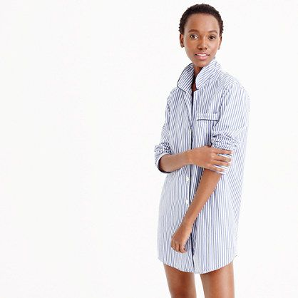 J.Crew - Classic nightshirt in striped vintage end-on-end cotton ... 05afd8654