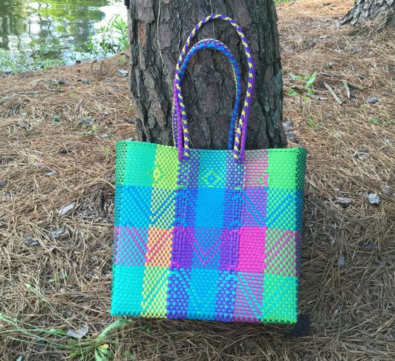 Tote recycled plastic, reusable shopping bag, beach bag ...