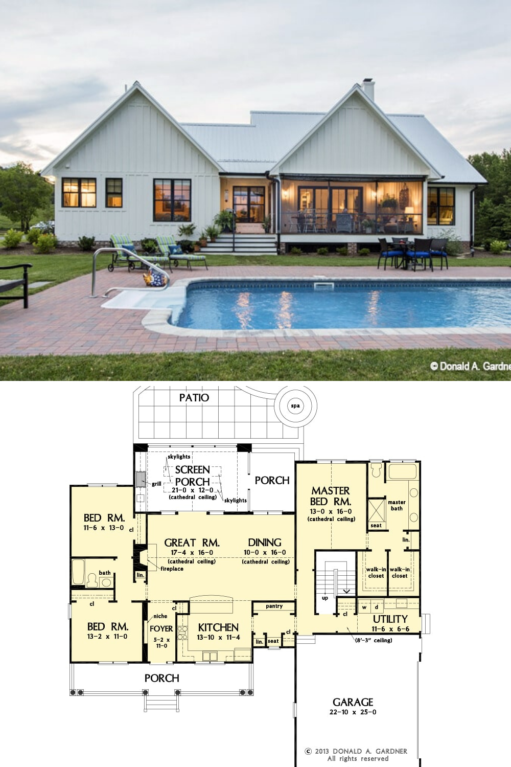 Single Story 3 Bedroom The Coleraine Home Floor Plan In 2020 Pool House Plans Beautiful House Plans Craftsman House Plans