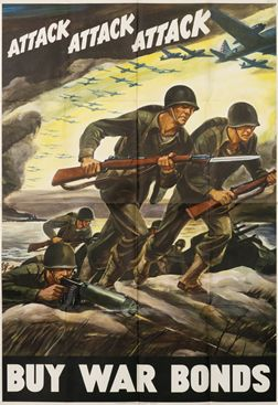 Ferdinand Warren poster: Attack Attack Attack - Buy War bonds