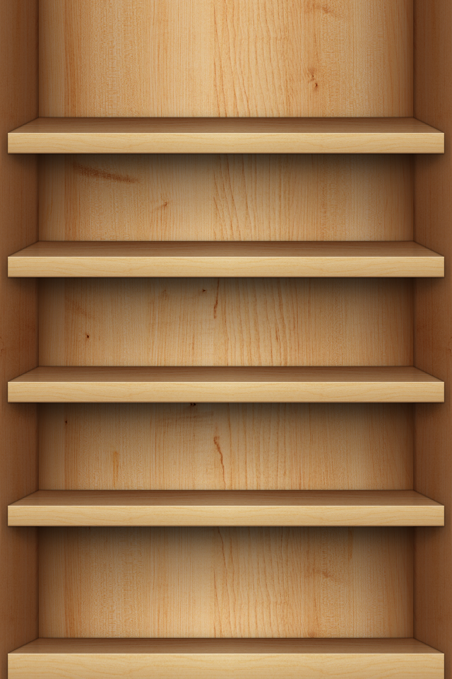 Light Wooden Shelves Wallpaper Hd 4k For Mobile Android Iphone