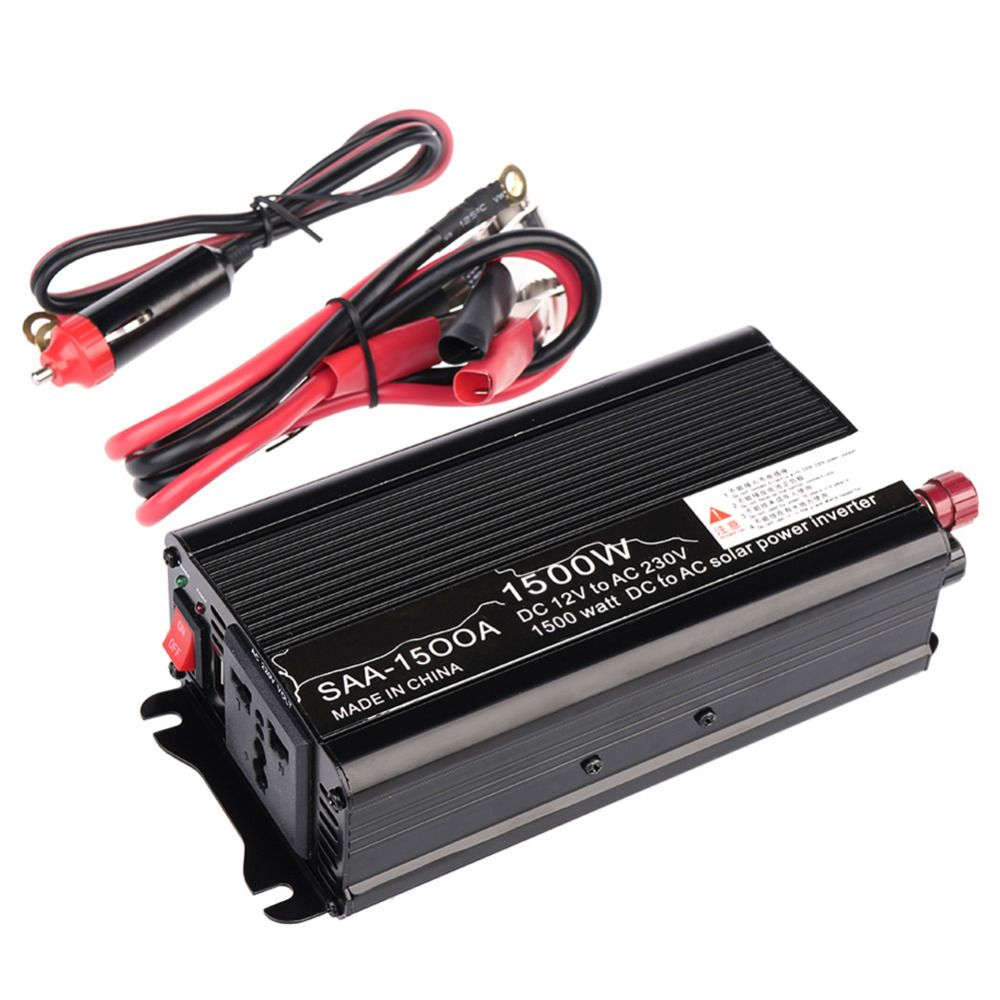 2016 1 Set 1500w Dc 12v Ac 220v 240v Household Car Solar Power Inverter Converter Adapter Modified Solar Power Inverter Power Inverters Electronic Accessories