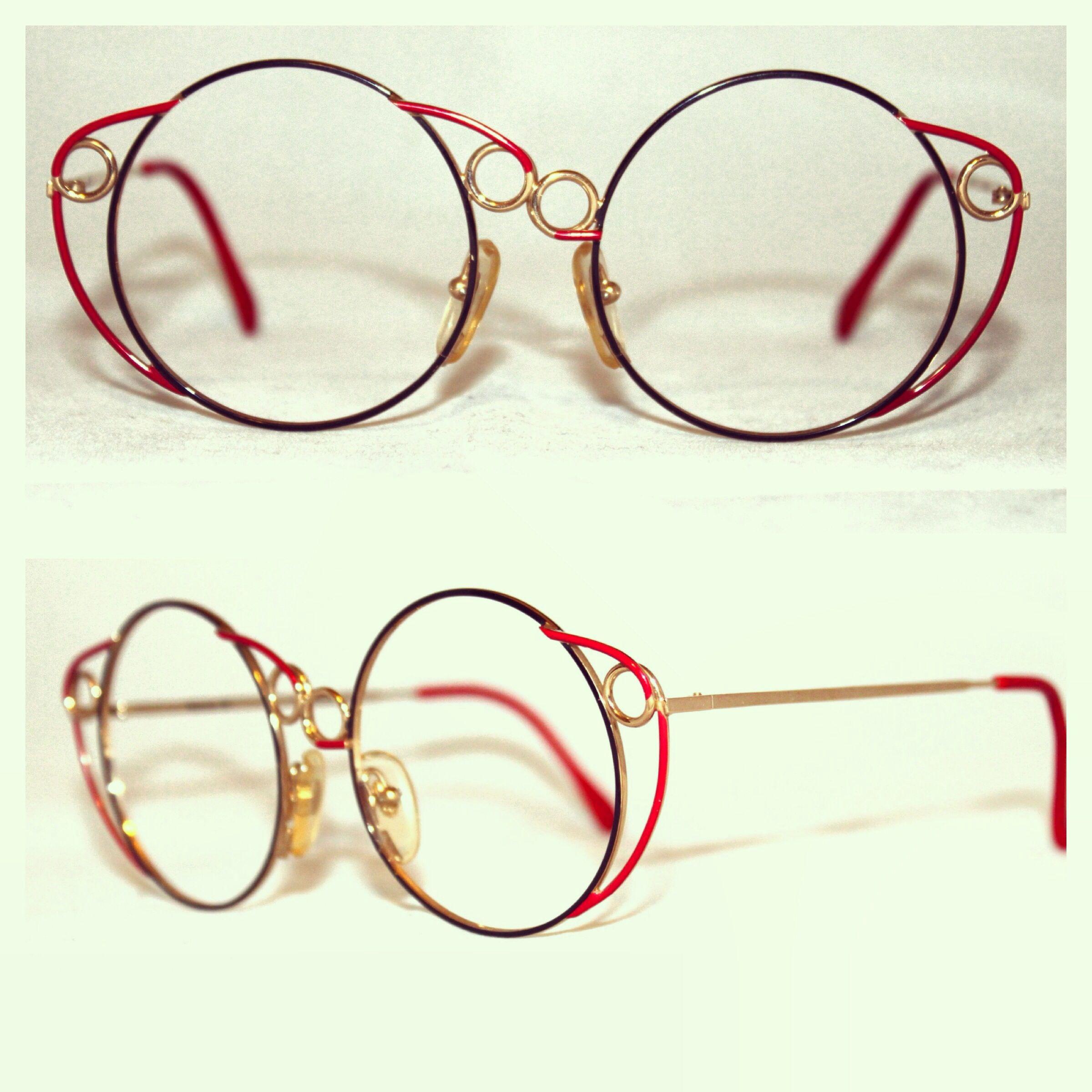e40af9e575 Vintage Casanova 24K Gold Plated Handpainted Sunglasses Eyeglasses Handmade  in France