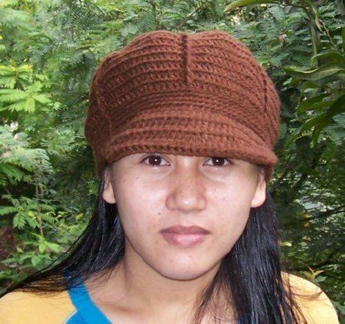 Free Crochet Pattern: Warm Cap with Brim | hat pattern | Pinterest ...