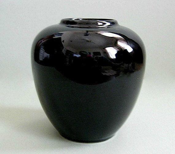Black Vase Pottery Vase Flower Vase Ceramic Vase Ceramic Pottery Vase Small  Vase Decor Modern Floral