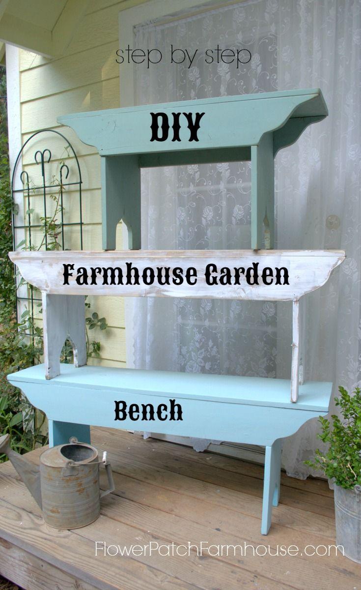 How to Build a Victorian Garden Bench   Farmhouse bench, Bench and Easy