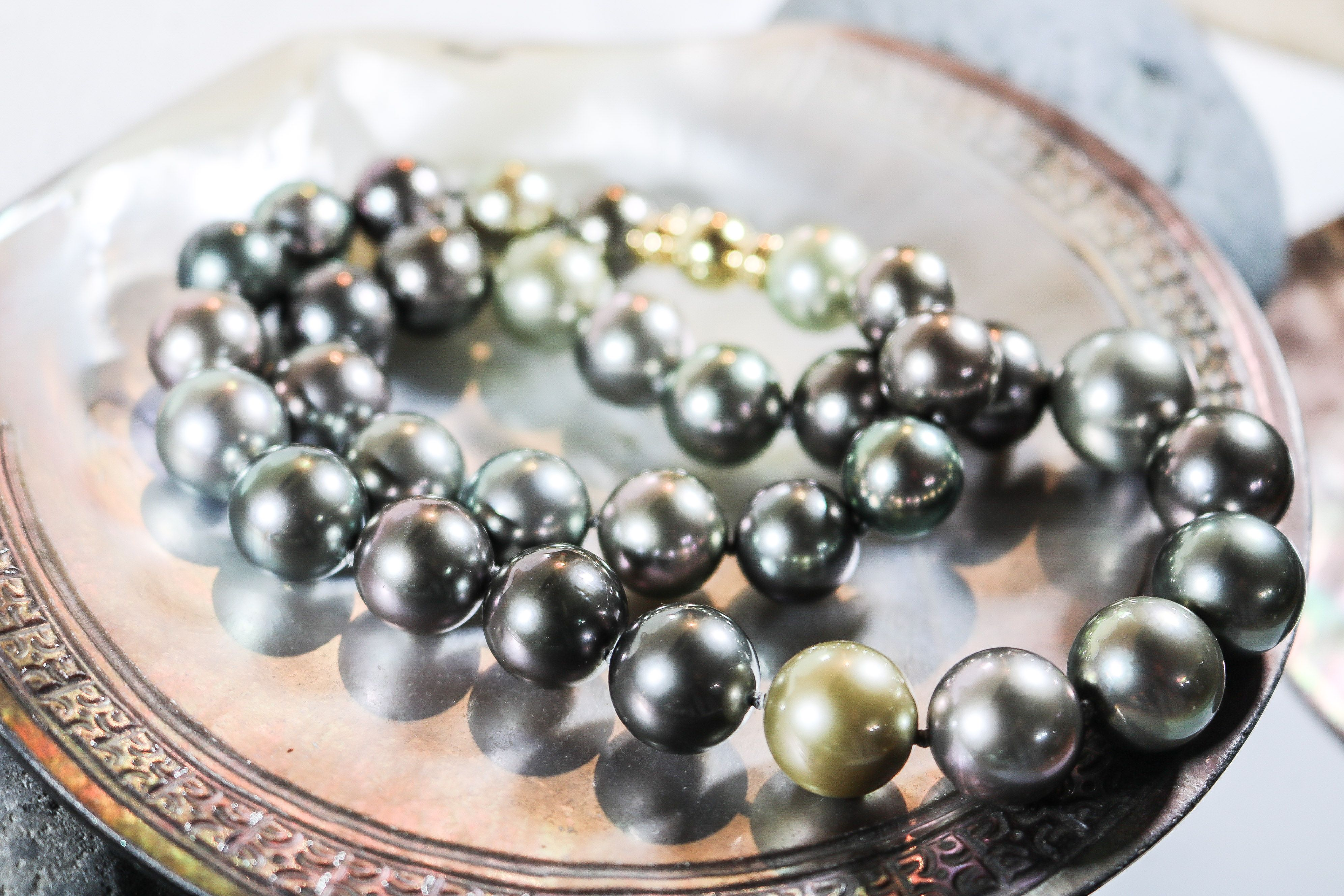 collier perle tahiti sur mesure