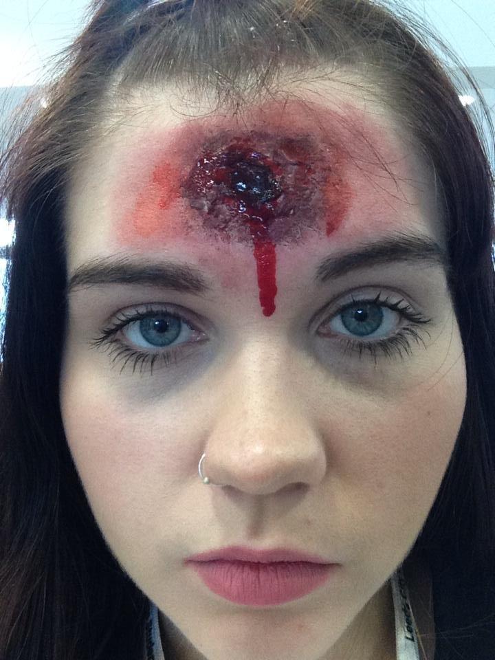 Media Makeup Level 3 Practical Bullet Wound Halloween Design Media Makeup Makeup October Ideas