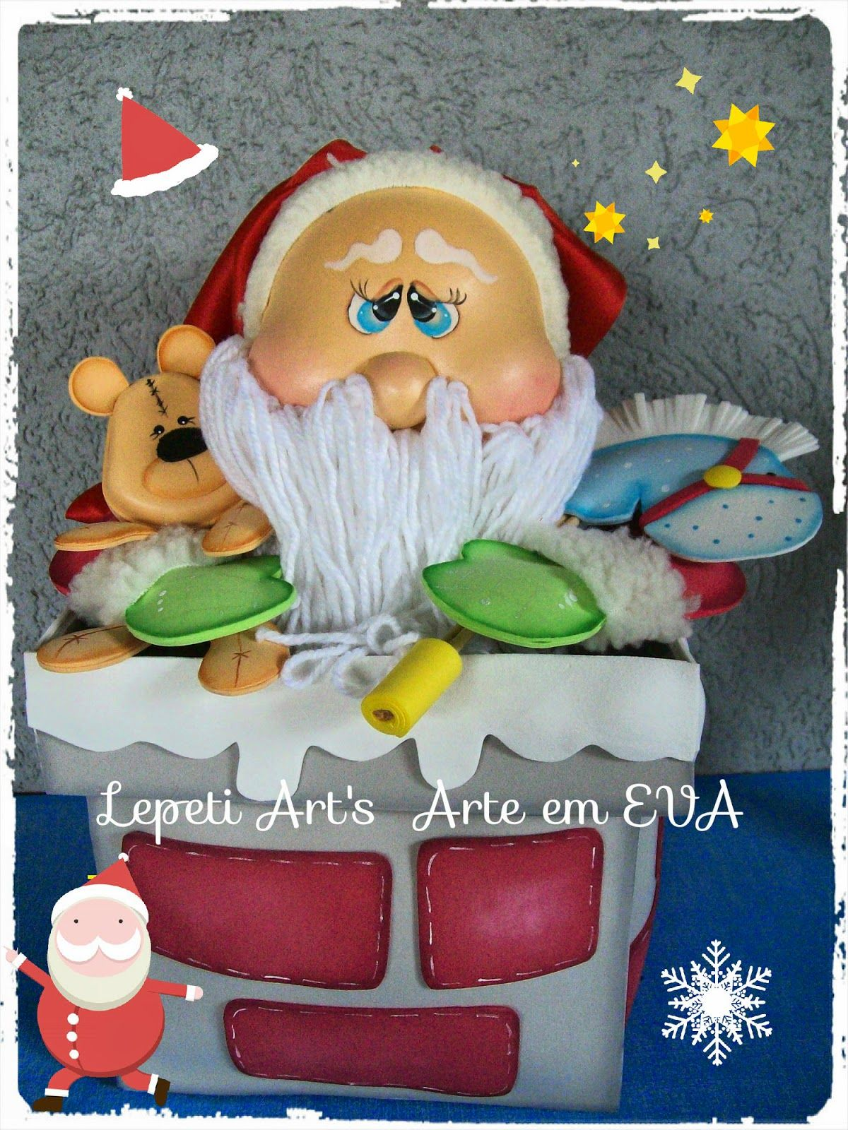 Lepeti Arts Pe As Oficina De Natal By Vivendo Em