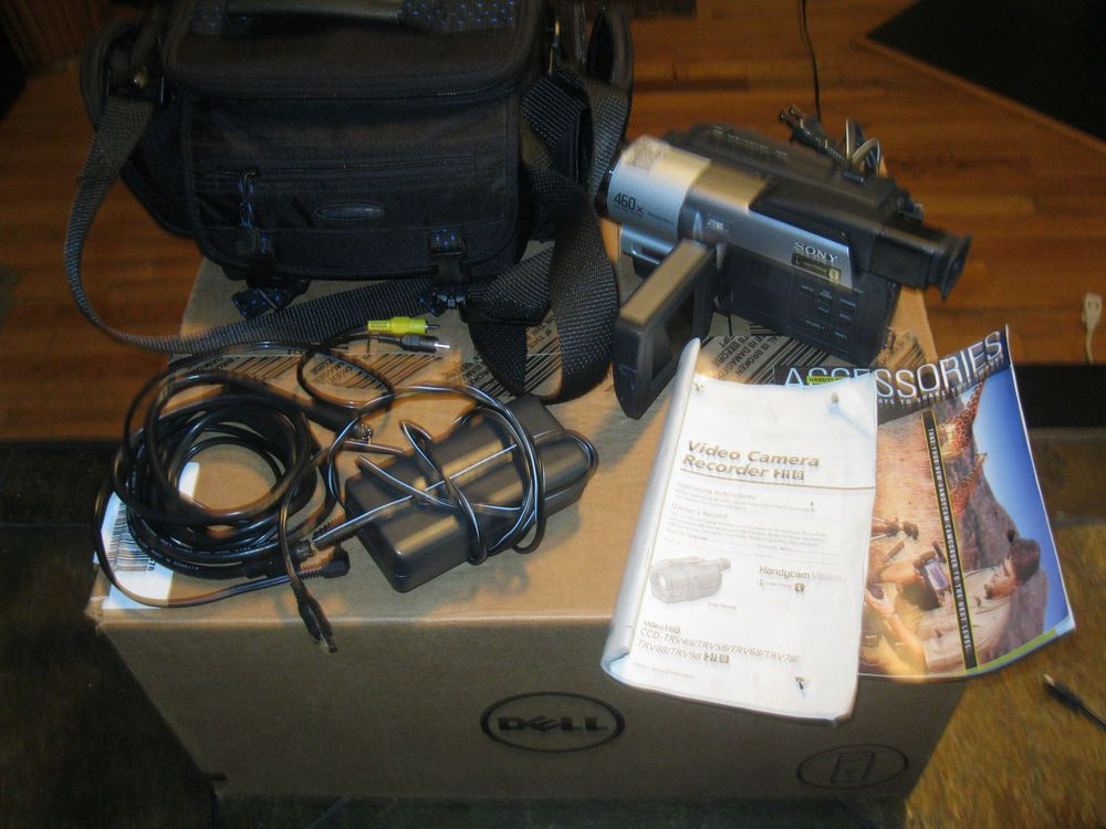 BUNDLE Sony Handycam CCD-TRV68 8mm Video8 HI8 Camcorder