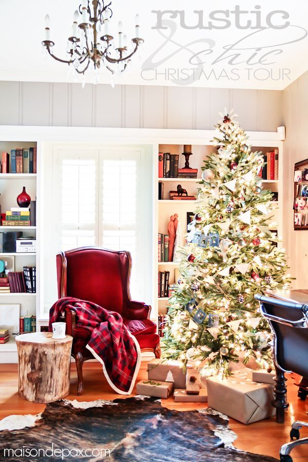 Rustic Chic Christmas Home Tour Decoration, Holidays and French