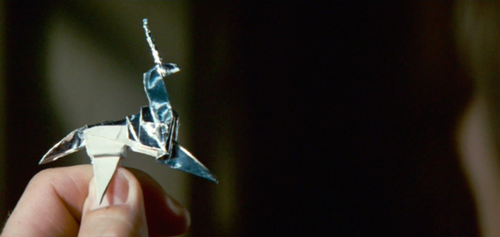 Blade Runner Origami Unicorn Pin: Does Deckard Dream Of Origami Unicorns? In 2019