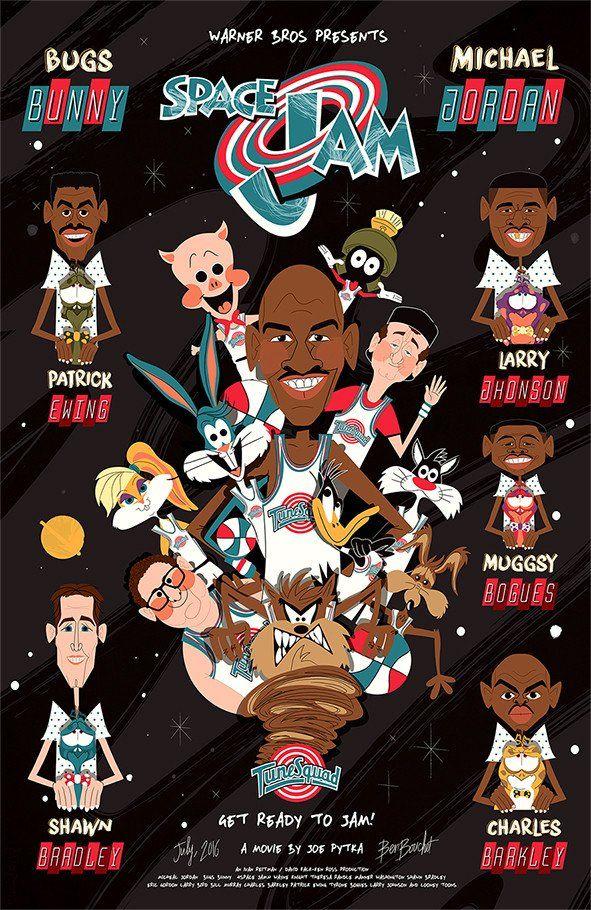 Ben Bouchet Space Oddity Jam Print Funny Basketball Memes Nba Art Looney Tunes Wallpaper