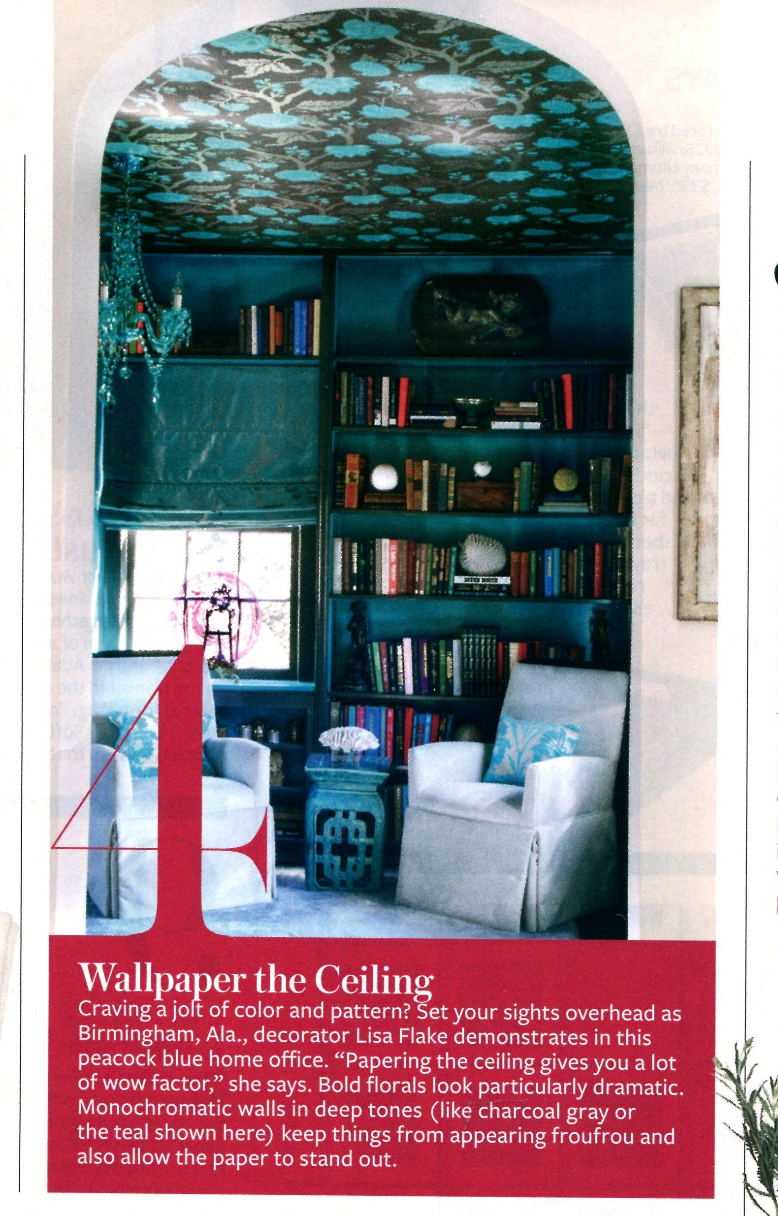 Traditional hallway wallpaper  Wallpaper on the ceiling  InStyle  Around the House  Pinterest