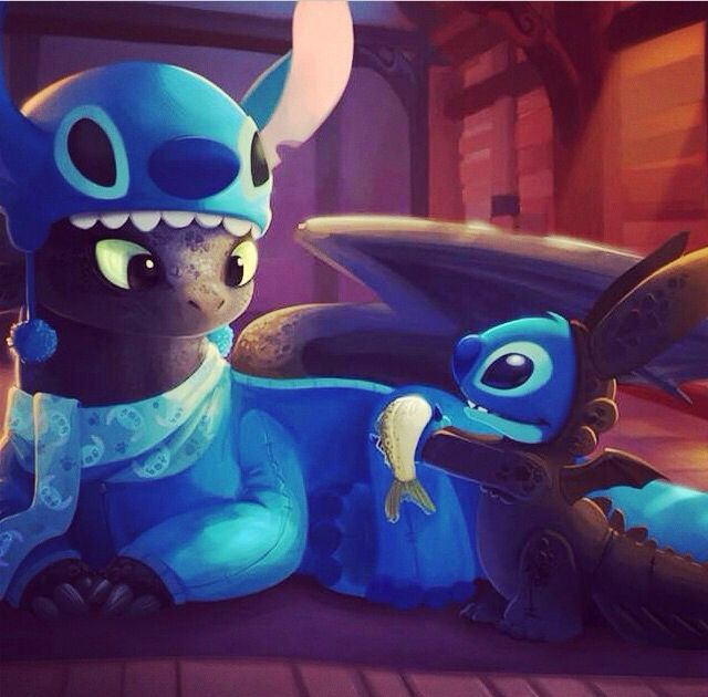 This Is So Adorable Disney Stitch Toothless Dreamworks Cute