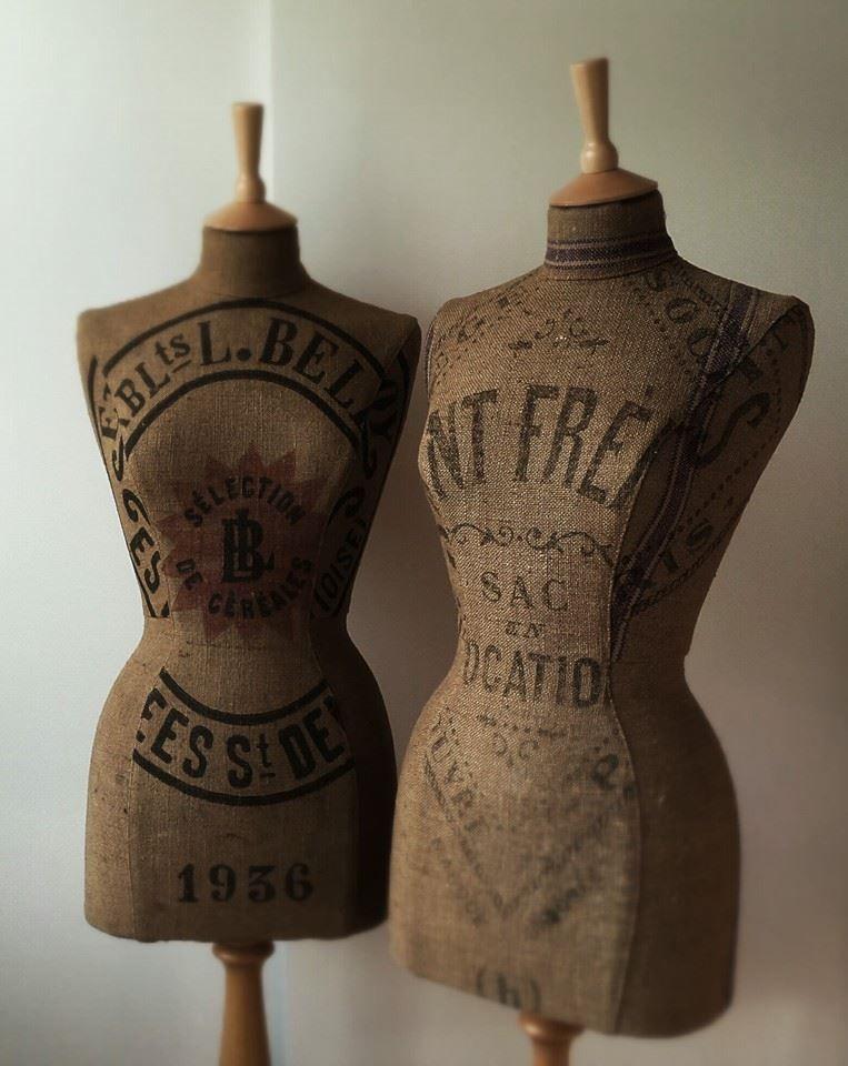 fabulous vintage French grain sack mannequins | mannequin ANGEL ...