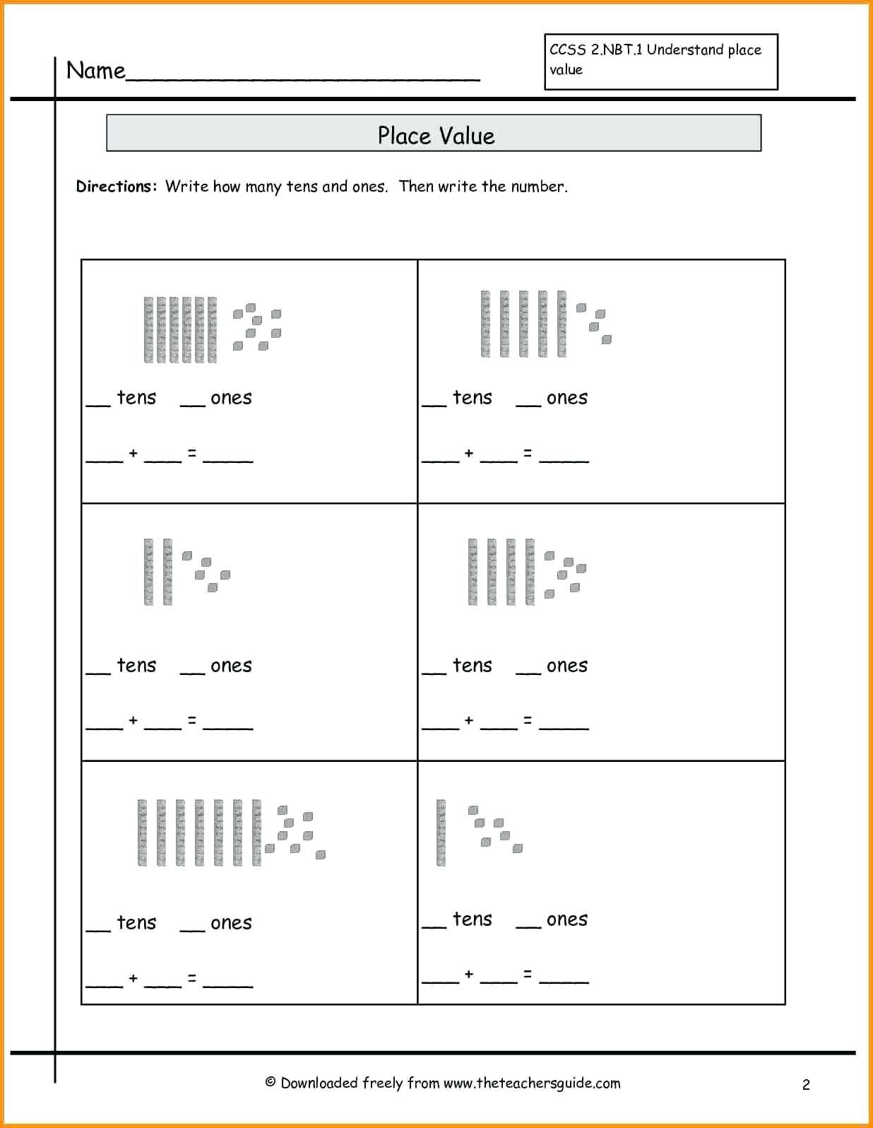 Missing Number Worksheets 2nd Grade