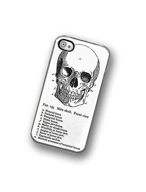 Iphone Case Medical Skull Diagram Iphone Hard By Thecuriouscasellc