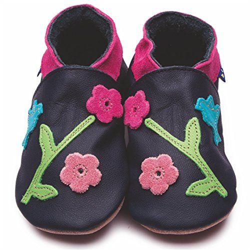 Inch Blue Mädchen/Jungen Schuhe für den Kinderwagen aus luxuriösem Leder - Weiche Sohle - Kolibri Dunkelblau - http://on-line-kaufen.de/inch-blue-2/kinder-m-3-4-jahre-17-5cm-mit-transparenter-tasche-2