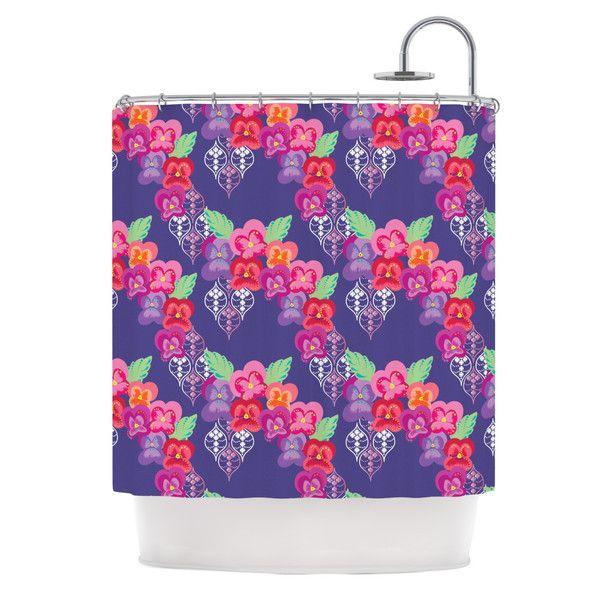 """Anneline Sophia """"Beautifully Boho"""" Purple Shower Curtain in Black Friday sale on www.kessinhouse.com"""