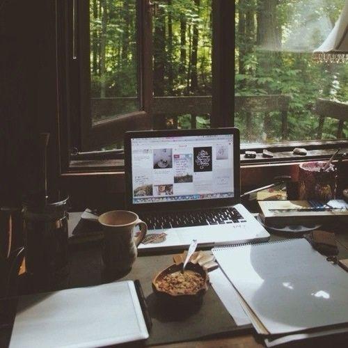 Imagem de coffee, forest, and home