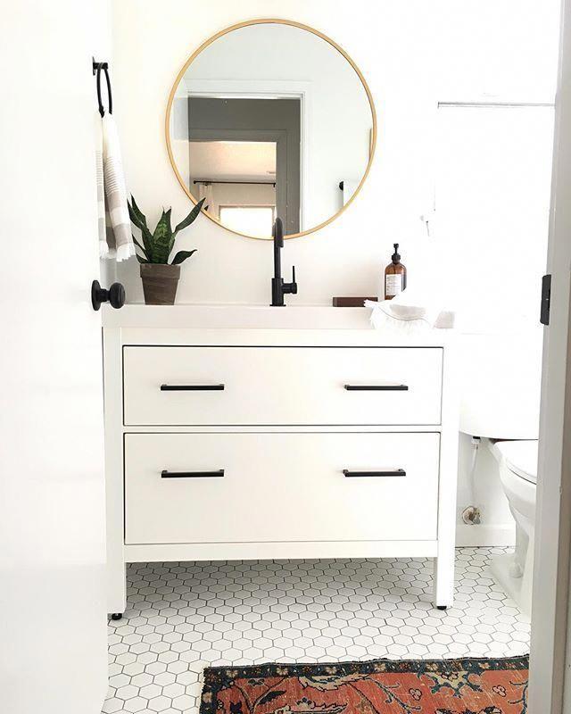 Photo of My proudest IKEA hack! Classy modern vanity from an IKEA favorite