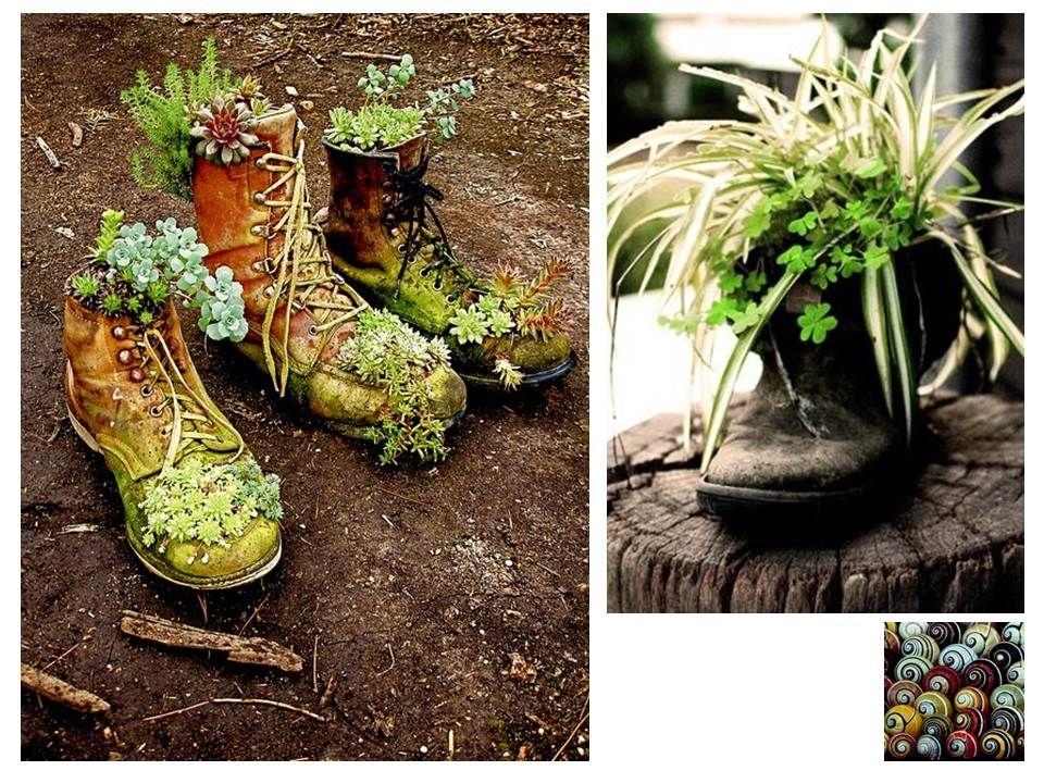 Jardines reciclados buscar con google decoracion de for Decoracion jardin reciclado
