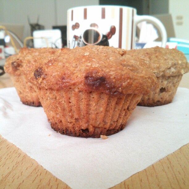 Honey oats muffins