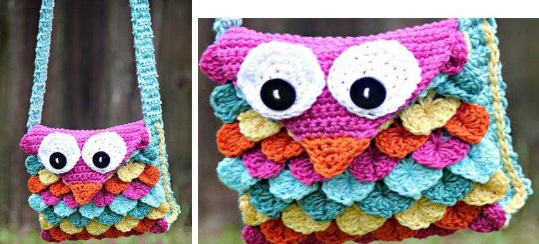 Super Fun Crocheted Owl Purse Free Crochet Pattern