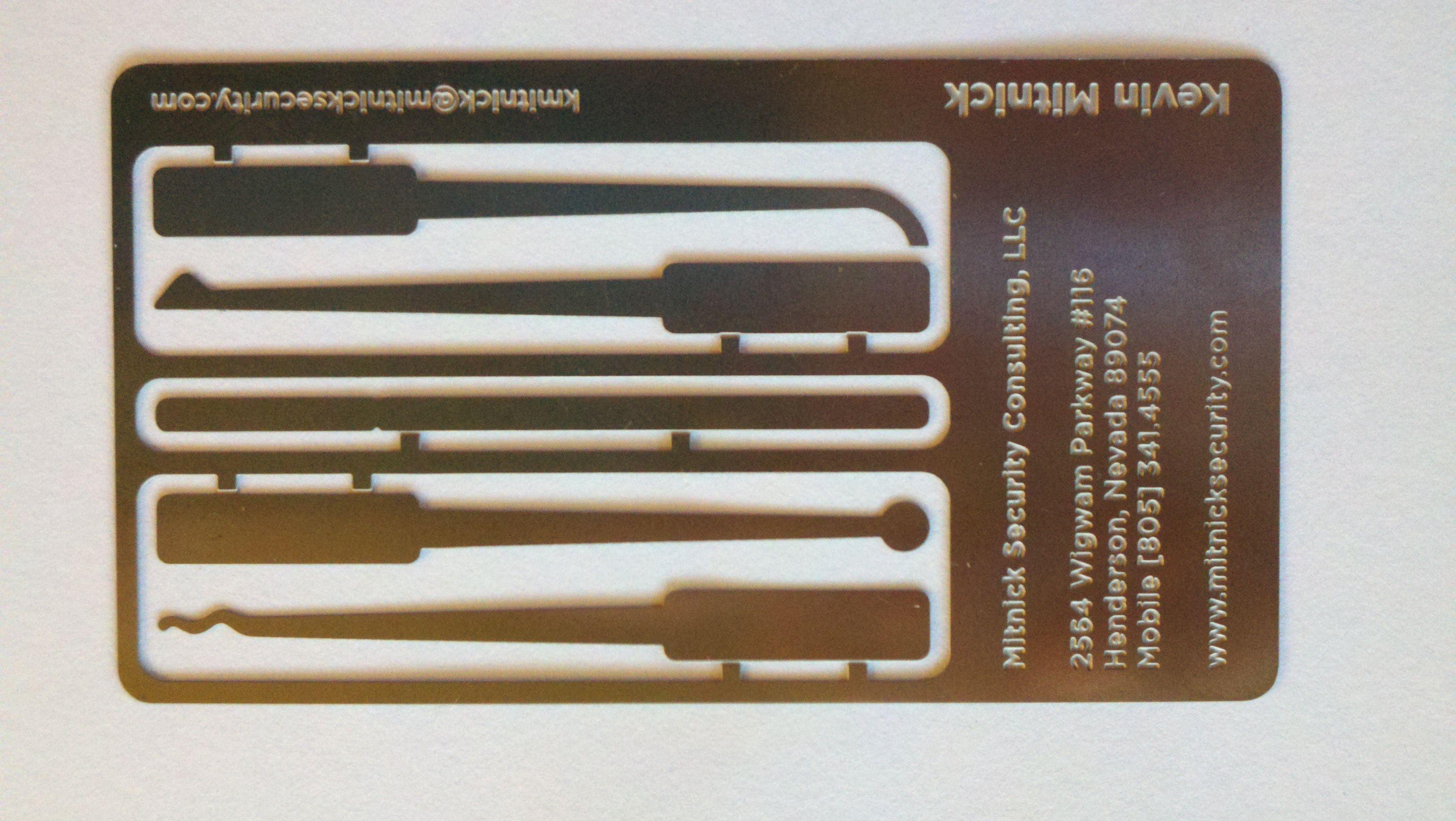 Kevin Mitnick has a business card lock-picking set : lockpicking ...
