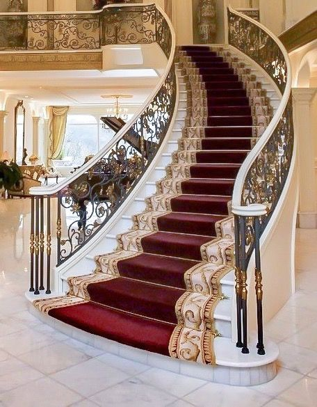 Best Marble Stairs Carpeted Down The Middle Interior Design 640 x 480