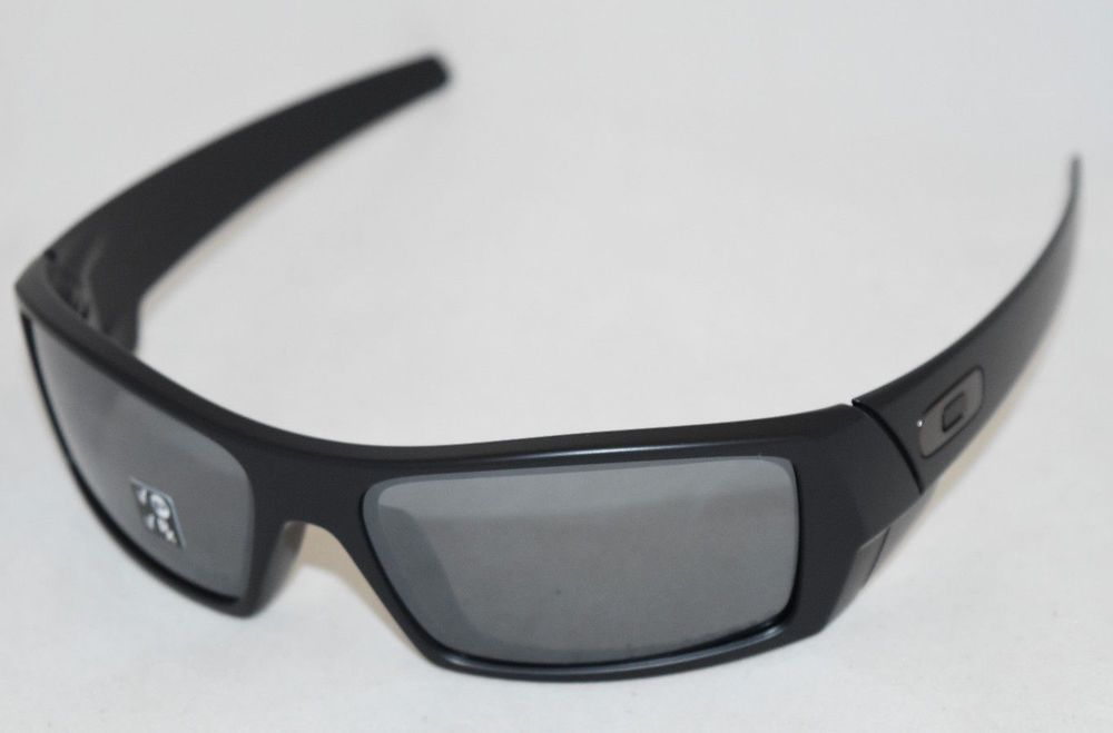 2306ec1ca34 eBay  Sponsored NEW OAKLEY GASCAN MATTE BLACK W  BLACK IRIDIUM POLARIZED  LENS 12-856