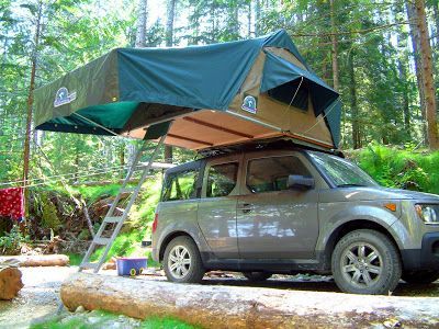 Weelife Roof Top Tent Honda Element Camping Honda Element Honda Element Camper