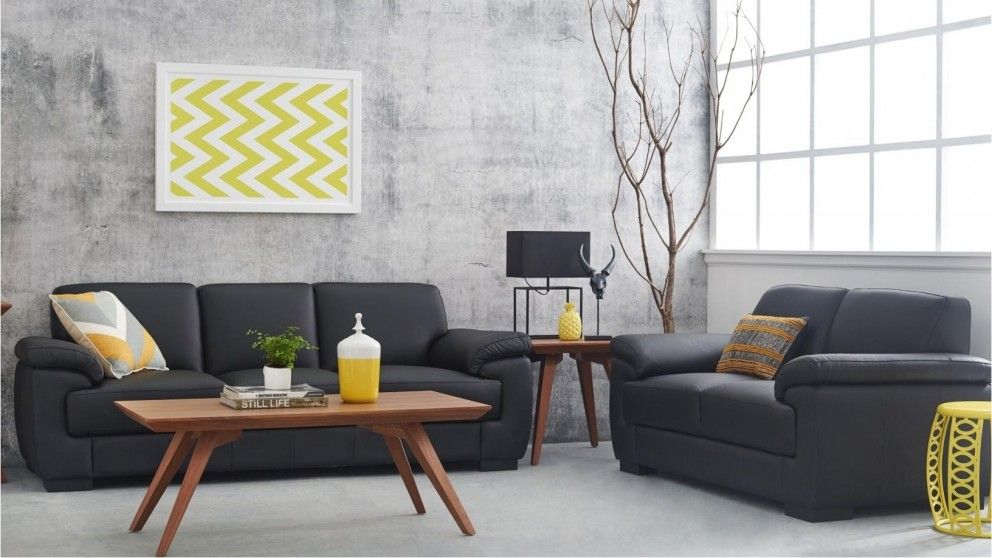 Levanzo 2 Piece Leather Lounge Suite - Lounges - Living Room - Furniture, Outdoor & BBQs | Harvey Norman Australia