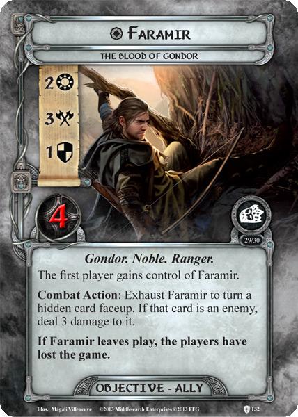 Faramir (objective ally card lotr lcg)