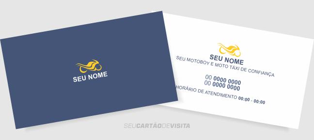 Cartão De Visita Moto Táximotoboy Grátis Para Download