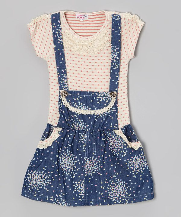 Look what I found on #zulily! Pink Polka Dot Cluster Jumper Dress - Toddler & Girls by Di Vani #zulilyfinds