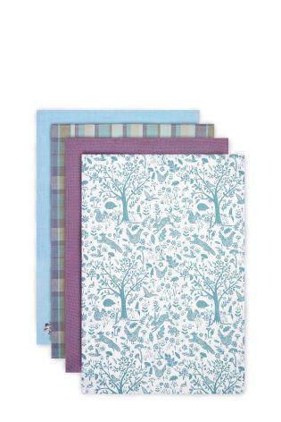 Set Of 4 Plum Design Tea Towels Online Today At Next Malaysia