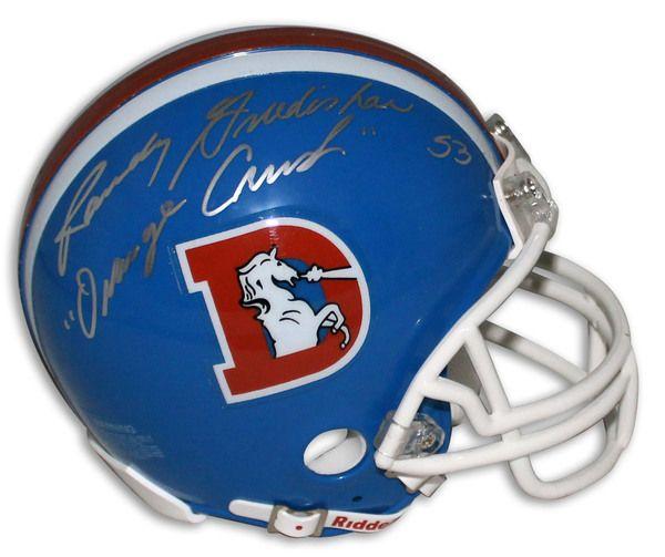 "Randy Gradishar Denver Broncos Autographed Mini Helmet Inscribed """"Orange Crush"""""